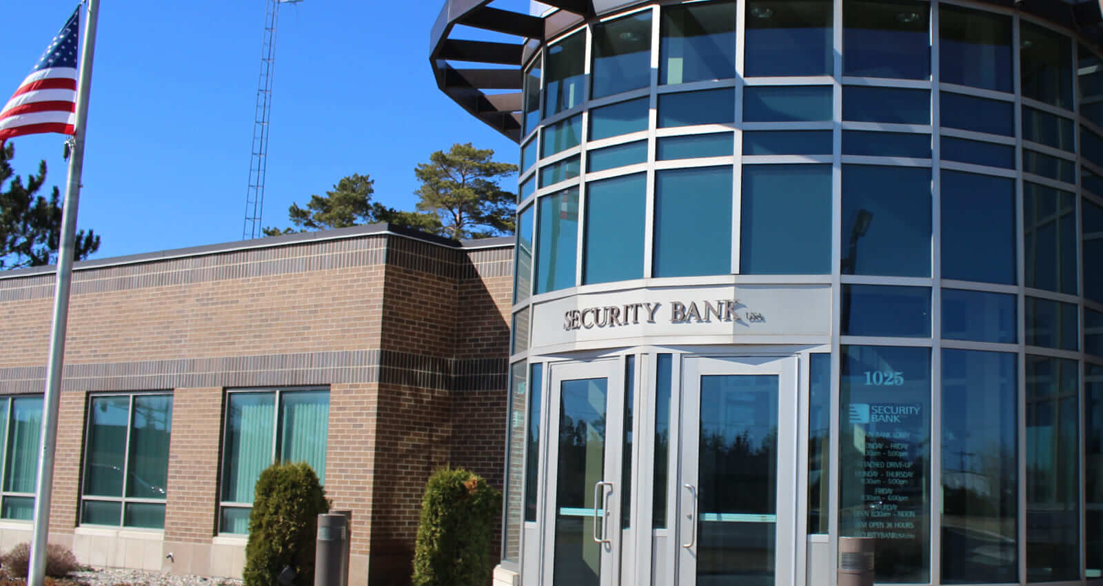 exterior of security bank building
